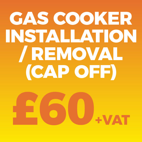 Gas Cooker Installation and removal (plus cap off), from only £60 +VAT